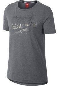 ΜΠΛΟΥΖΑ NIKE SPORTSWEAR ESSENTIAL T-SHIRT ΓΚΡΙ αθλητικά είδη sportswear γυναικα ενδυση t shirts