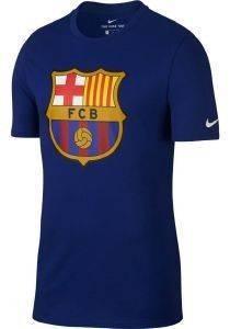 ΜΠΛΟΥΖΑ NIKE FC BARCELONA CREST T-SHIRT ΜΠΛΕ ΡΟΥΑ αθλητικά είδη ποδοσφαιρο ανδρασ ενδυση t shirts