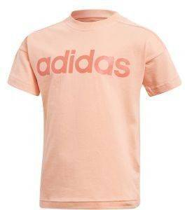 ΜΠΛΟΥΖΑ ADIDAS PERFORMANCE LITTLE KIDS LINEAR TEE ΚΟΡΑΛΙ