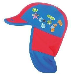 ΚΑΠΕΛΟ ARENA WATER TRIBE PANEL CAP ΜΠΛΕ/ΚΟΚΚΙΝΟ αθλητικά είδη beachwear παιδι αξεσουαρ