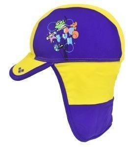 ΚΑΠΕΛΟ ARENA WATER TRIBE PANEL CAP ΚΙΤΡΙΝΟ/ΜΩΒ αθλητικά είδη beachwear παιδι αξεσουαρ