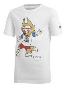 ΜΠΛΟΥΖΑ ADIDAS PERFORMANCE FIFA WORLD CUP MASCOT TEE ΛΕΥΚΗ (176 CM)