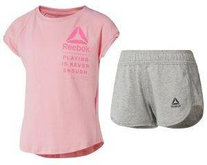 ΣΕΤ REEBOK SPORT GIRL'S TEE AND SHORTS SET ΡΟΖ/ΓΚΡΙ (104 CM)