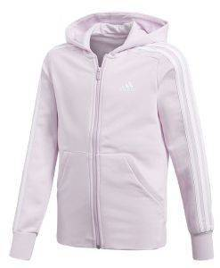 ΖΑΚΕΤΑ ADIDAS PERFORMANCE ESSENTIALS 3-STRIPES HOODIE ΡΟΖ