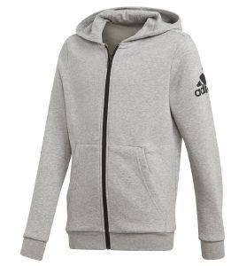ΖΑΚΕΤΑ ADIDAS PERFORMANCE ESSENTIALS LOGO FZ HOODIE ΓΚΡΙ