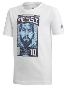 ΜΠΛΟΥΖΑ ADIDAS PERFORMANCE MESSI GRAPHIC ΛΕΥΚΗ