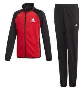 ΦΟΡΜΑ ADIDAS PERFORMANCE YB TRACKSUIT CLOSED HEM ΜΑΥΡΗ/ΚΟΚΚΙΝΗ