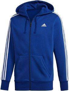 ΖΑΚΕΤΑ ADIDAS PERFORMANCE ESSENTIALS 3S FZ HOODED TRACK TOP ΜΠΛΕ
