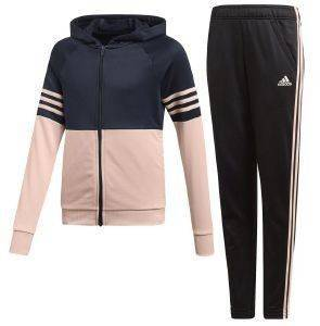 ΦΟΡΜΑ ADIDAS PERFORMANCE HOODED TRACK SUIT ΜΑΥΡΗ/ΡΟΖ (164 CM)