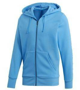 ΖΑΚΕΤΑ ADIDAS PERFORMANCE ESSENTIALS LINEAR FZ HOODIE ΜΠΛΕ ΑΝΟΙΚΤΟ