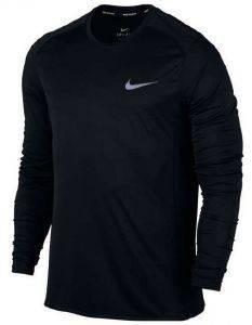 ΜΠΛΟΥΖΑ NIKE DRY MILER LONG SLEEVE RUNNING TOP ΜΑΥΡΗ (M)