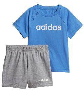ΣΕΤ ADIDAS PERFORMANCE LINEAR SUMMER SET ΜΠΛΕ/ΓΚΡΙ (80 CM)