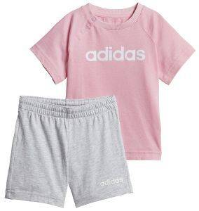 ΣΕΤ ADIDAS PERFORMANCE LINEAR SUMMER SET ΡΟΖ/ΓΚΡΙ (80 CM)