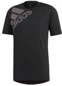 ΜΠΛΟΥΖΑ ADIDAS PERFORMANCE FREELIFT BADGE OF SPORT GRAPHIC TEE ΜΑΥΡΗ
