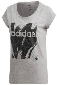 ΜΠΛΟΥΖΑ ADIDAS PERFORMANCE ESSENTIALS ALLOVER PRINT TEE ΓΚΡΙ