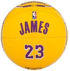 ΜΠΑΛΙΤΣΑ SPALDING NBA MINIATURE JERSEY BALL 23 LEBRON JAMES (SIZE 1.5)