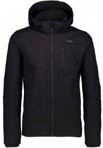 ΜΠΟΥΦΑΝ CMP SOFTSHELL JACKET WITH DETACHABLE HOOD ΜΑΥΡΟ