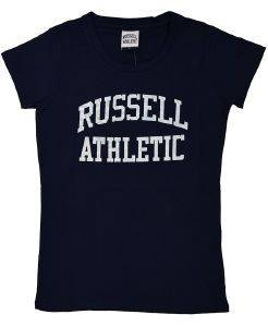 ΜΠΛΟΥΖΑ RUSSELL ATHLETIC S/S CLASSIC PRINTED S/S CREW NECK TEE ΜΠΛΕ ΣΚΟΥΡΟ