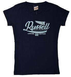 ΜΠΛΟΥΖΑ RUSSELL ATHLETIC GLITTER PRINTED WINGS S/S CREW TEE ΜΠΛΕ ΣΚΟΥΡΟ