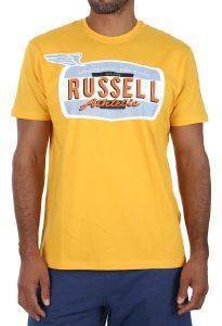 ΜΠΛΟΥΖΑ RUSSELL ATHLETIC WINGS S/S CREWNECK TEE ΚΙΤΡΙΝΗ