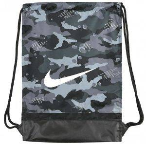ΣΑΚΙΔΙΟ NIKE BRASILIA ALL OVER PRINT GYMSACK ΓΚΡΙ/ΜΑΥΡΟ