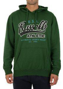 ΦΟΥΤΕΡ RUSSELL ATHLETIC USA PULL OVER HOODY ΠΡΑΣΙΝΟ (XXL)