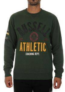 ΜΠΛΟΥΖΑ RUSSELL ATHLETIC BADGED CREWNECK SWEATSHIRT ΠΡΑΣΙΝΗ