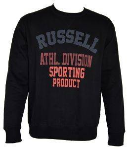 ΜΠΛΟΥΖΑ RUSSELL ATHLETIC DIVISION CREWNECK SWEATSHIRT ΜΑΥΡΗ (XXL)