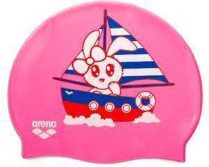 ΣΚΟΥΦΑΚΙ ARENA PRINT JR POOL CAP BOAT RABBIT ΡΟΖ