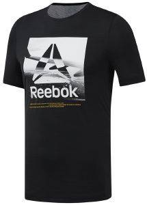ΜΠΛΟΥΖΑ REEBOK SPORT WORKOUT READY ACTIVCHILL GRAPHIC TEE ΜΑΥΡΗ