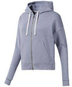 ΖΑΚΕΤΑ REEBOK SPORT TRAINING ESSENTIALS SWEATSHIRT ΛΙΛΑ (L)