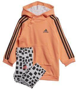 ΣΕΤ ADIDAS PERFORMANCE HOODED DRESS SET ΚΟΡΑΛΙ/ΓΚΡΙ
