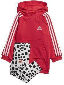 ΣΕΤ ADIDAS PERFORMANCE HOODED DRESS SET ΡΟΖ/ΓΚΡΙ (104 CM)