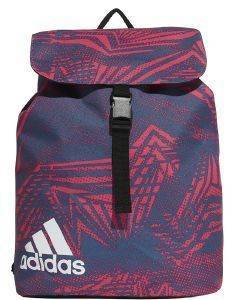 ΤΣΑΝΤΑ ADIDAS PERFORMANCE FLAP ESSENTIALS GRAPHIC BACKPACK ΜΑΤΖΕΝΤΑ