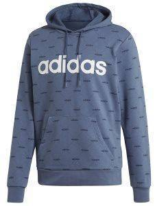ΦΟΥΤΕΡ ADIDAS SPORT INSPIRED LINEAR GRAPHIC HOODIE ΜΠΛΕ
