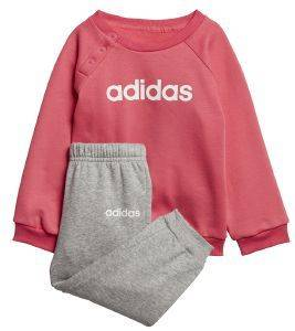 ΣΕΤ ADIDAS SPORT INSPIRED LINEAR FLEECE JOGGER SET ΡΟΖ/ΓΚΡΙ (74 CM)