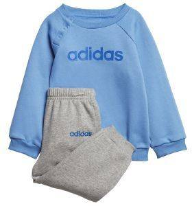 ΣΕΤ ADIDAS SPORT INSPIRED LINEAR FLEECE JOGGER SET ΜΠΛΕ/ΓΚΡΙ