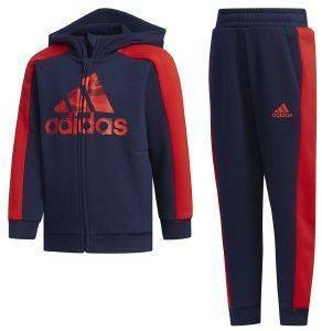 ΦΟΡΜΑ ADIDAS PERFORMANCE GRAPHIC HOODIE SET ΜΠΛΕ ΣΚΟΥΡΟ