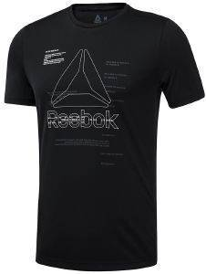 ΜΠΛΟΥΖΑ REEBOK SPORT WORKOUT READY GRAPHIC TEE ΜΑΥΡΗ