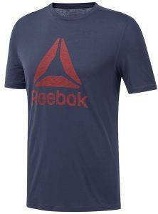 ΜΠΛΟΥΖΑ REEBOK SPORT WORKOUT READY SUPREMIUM TEE ΜΠΛΕ ΣΚΟΥΡΟ
