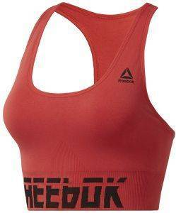 ΜΠΟΥΣΤΑΚΙ REEBOK SPORT WORKOUT READY MEET YOU THERE SEAMLESS PADDED BRA ΚΟΚΚΙΝΟ