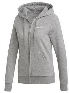 ΖΑΚΕΤΑ ADIDAS PERFORMANCE ESSENTIALS PLAIN HOODIE ΓΚΡΙ (M)