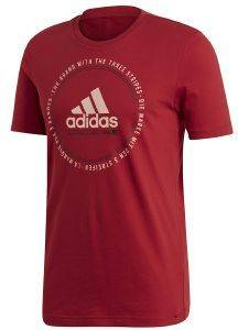 ΜΠΛΟΥΖΑ ADIDAS PERFORMANCE MUST HAVES EMBLEM TEE ΜΑΡΟΝ