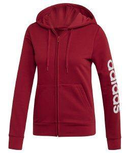 ΖΑΚΕΤΑ ADIDAS PERFORMANCE ESSENTIALS LINEAR HOODIE ΜΑΡΟΝ