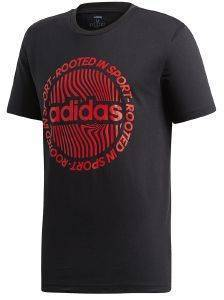ΜΠΛΟΥΖΑ ADIDAS SPORT INSPIRED CIRCLED GRAPHIC TEE ΜΑΥΡΗ