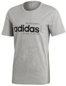 ΜΠΛΟΥΖΑ ADIDAS SPORT INSPIRED BRILLIANT BASICS TEE ΓΚΡΙ