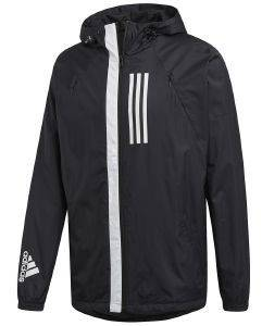 ΜΠΟΥΦΑΝ ADIDAS PERFORMANCE W.N.D. JACKET ΜΑΥΡΟ