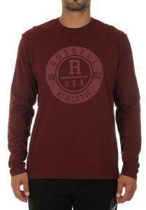 ΜΠΛΟΥΖΑ RUSSELL ATHLETIC TONAL L/S CREWNECK TEE ΜΠΟΡΝΤΩ (S)