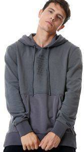 ΦΟΥΤΕΡ BODYTALK JUST FOR FUN LOOSE HOODIE ΓΚΡΙ ΣΚΟΥΡΟ (M)