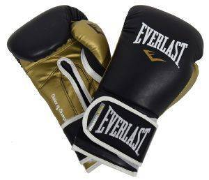 ΓΑΝΤΙΑ EVERLAST POWERLOCK HOOK AND LOOP TRAINING ΜΑΥΡΑ/ΧΡΥΣΑ (14 OZ)